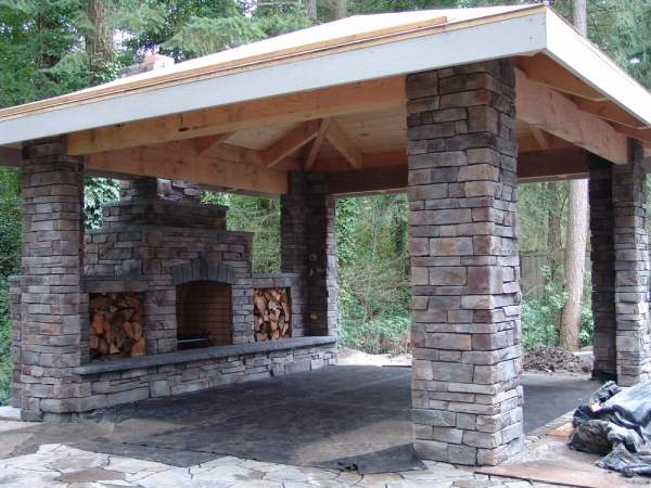 outdoor covered patio with fireplace outdoor fireplace, patio, stone, covered patio, outdoor