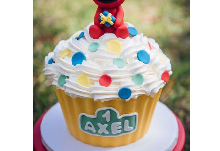 Elmo Jumbo Cupcake Smash Cake Yelp
