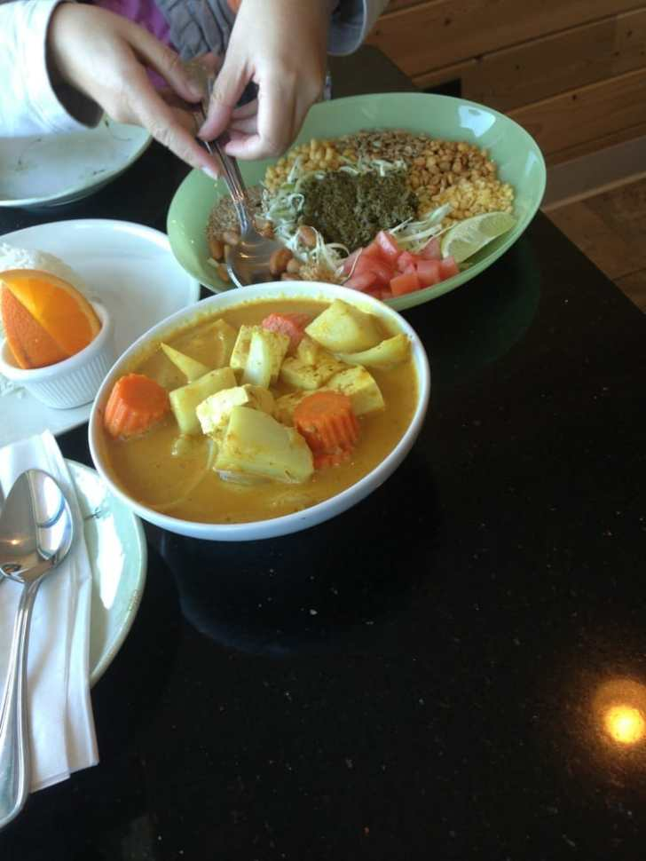 Moh Kitchen Milpitas United States Yellow Curry Tofu