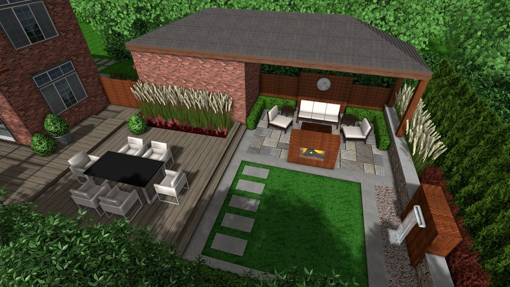 Eclectic Modern Backyard Landscape Design - Yelp on Backyard Decor Canada id=84826