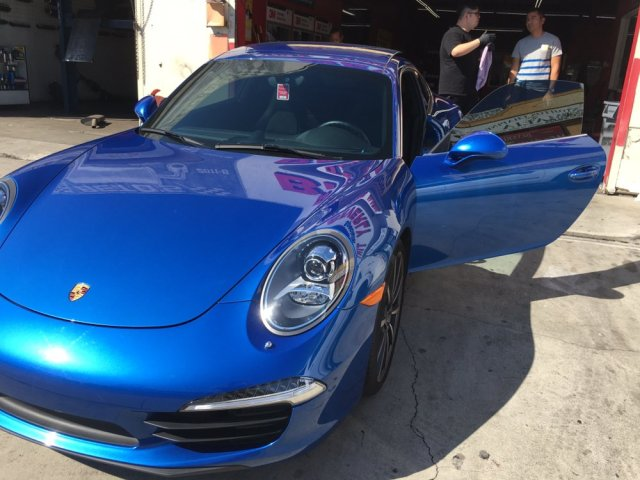 Ceramic tint on the front for this Porsche 911. - Yelp