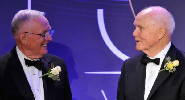 John Glenn salutes Neil Armstrong - POLITICO