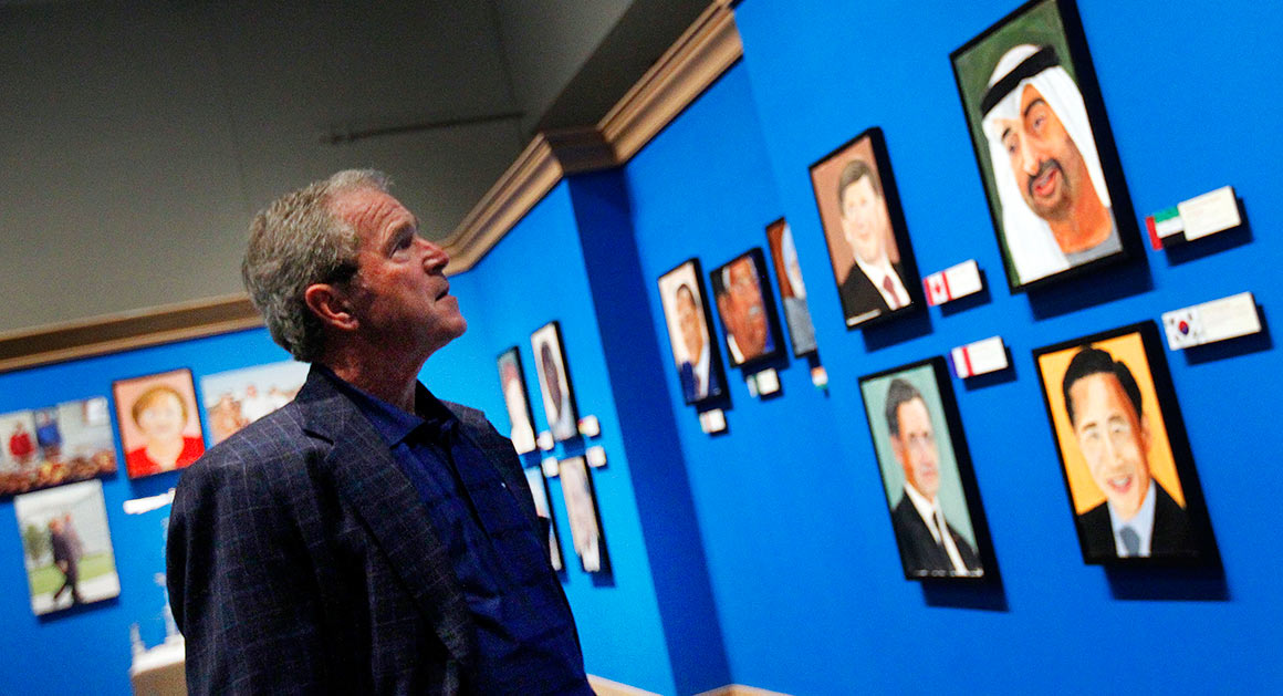 George Bushs Paintings Arent Funny POLITICO Magazine
