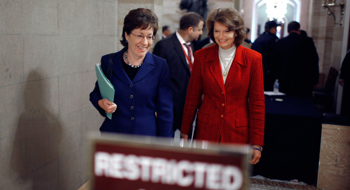 Image result for photos of sen Collins and Senator Lisa Murkowski