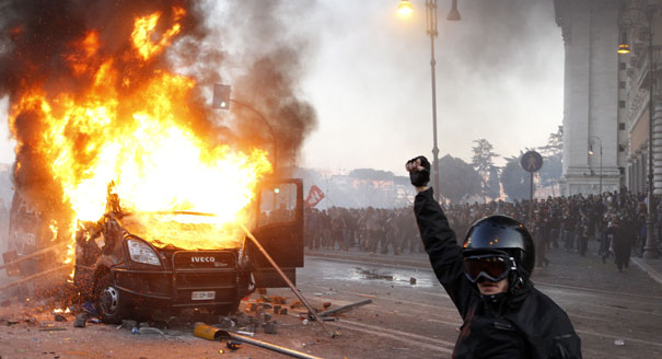 Violence At Italian Occupy Protests POLITICO