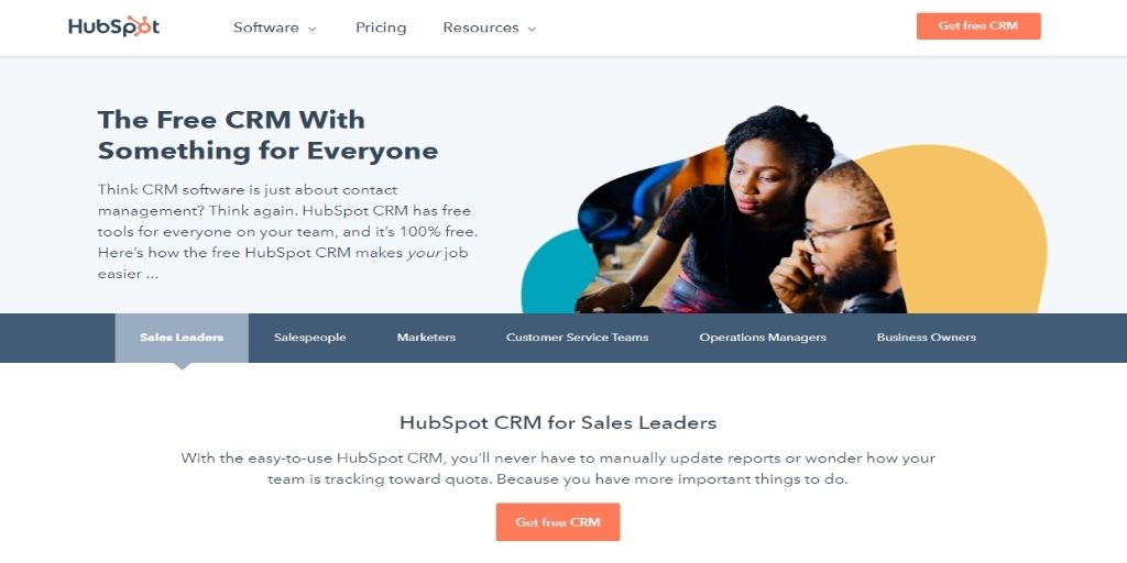 HubSpot Agile Keap Zoho Act!-software Freshsales Salesforce CRM Software For eCommerce