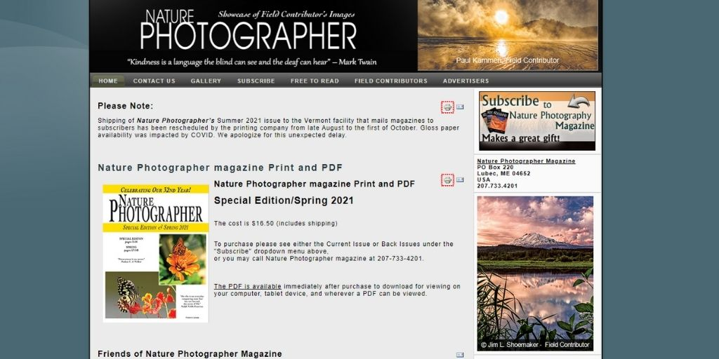 Nature Photographer photography magazines