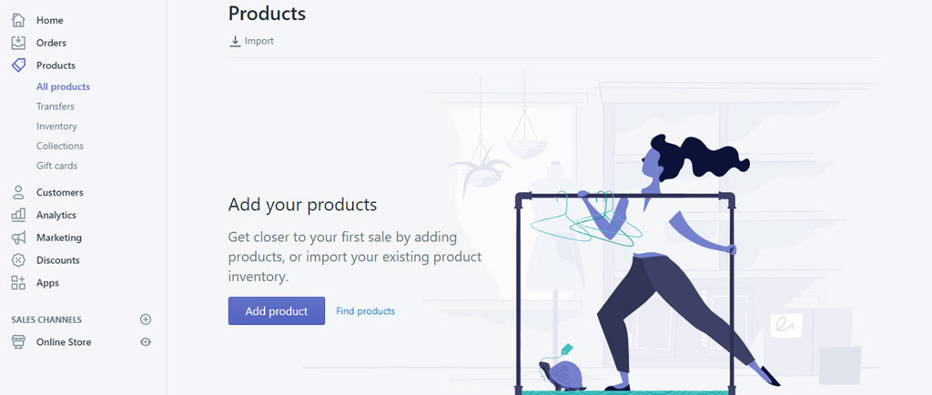 Add Product to sell on Shopify