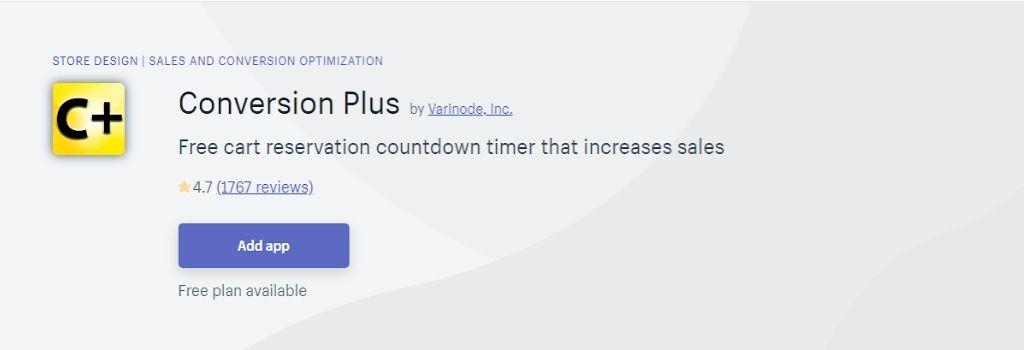 conversion plus Countdown timer