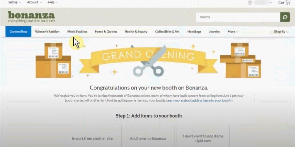 listing on Bonanza