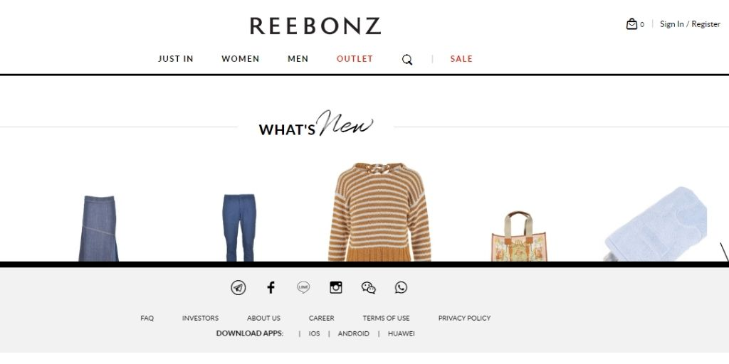 eCommerce website in Singapore