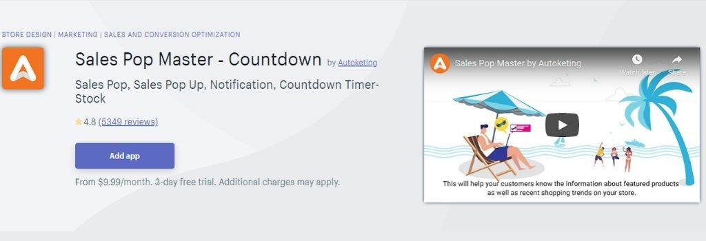 sales pop master Countdown timer