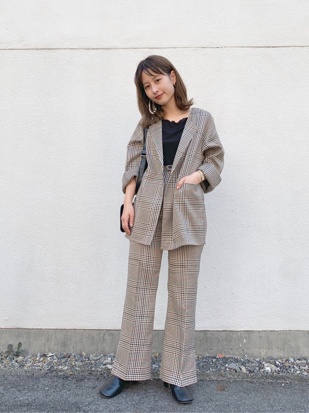 一件格紋西裝外套搞定所有穿搭!秋冬的率性褲裝先學日本女生這樣穿 | | 美人計 | 妞新聞 niusnews