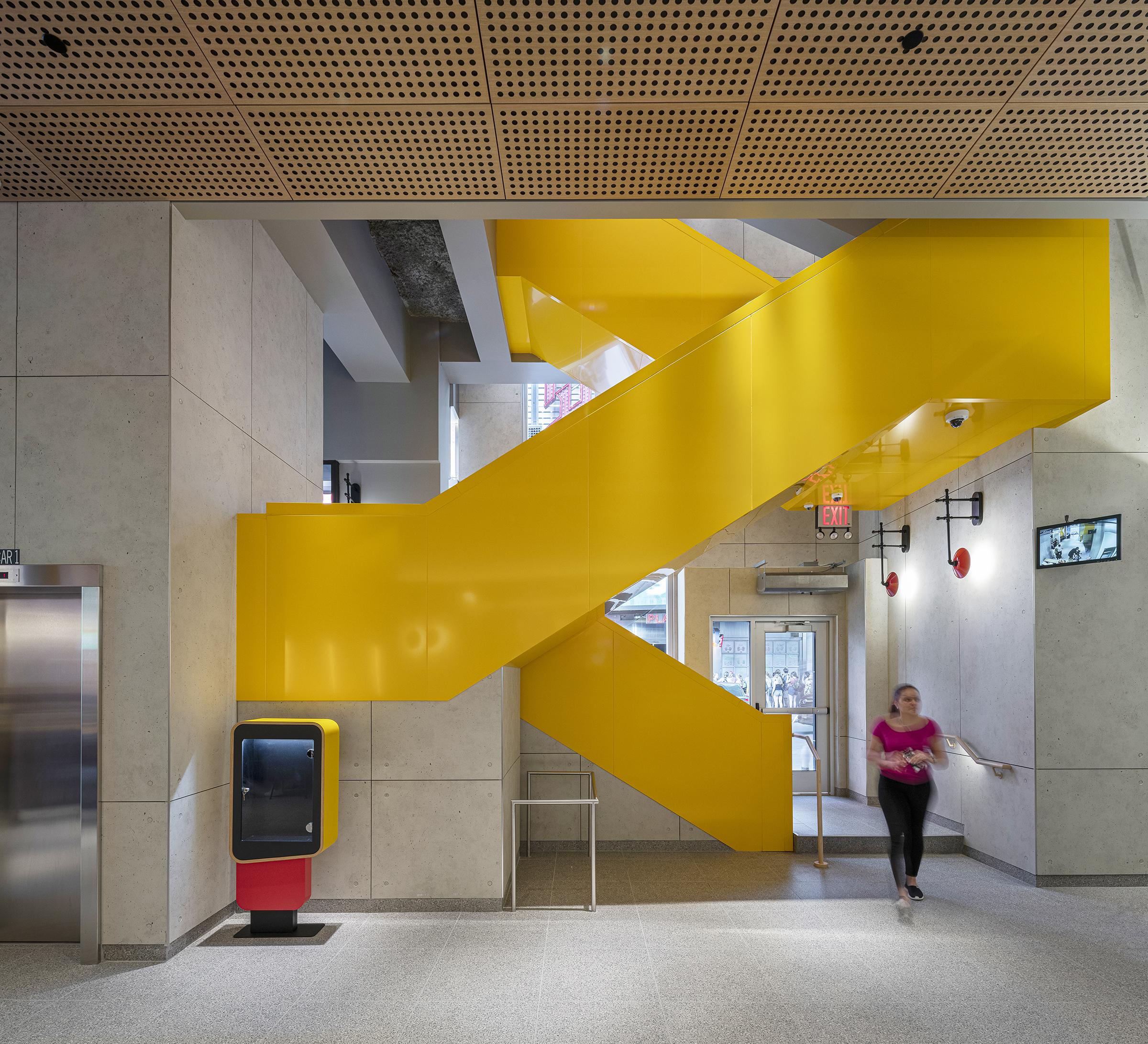 Interior design at McDonald's Times Square flagship