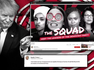 Image result for tRUMP WITH sQUAD