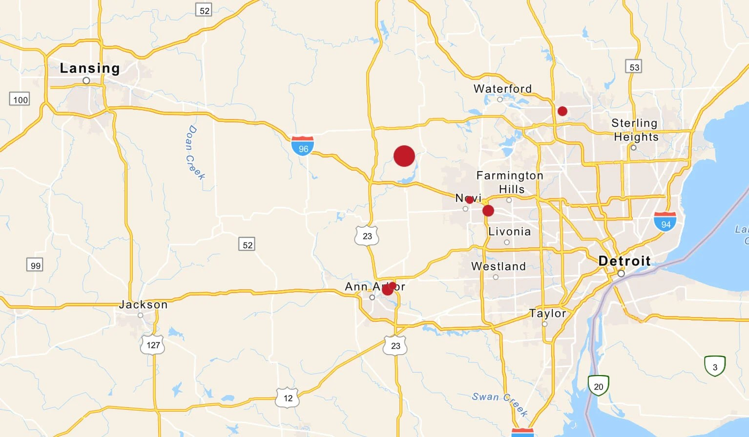 New york city and san francisco might come to mind, but big businesses and high rents don't necessarily translate to wealth for a. Metro Detroit Cities Included In Online Map To Track Autonomous Vehicle Tests Crain S Detroit Business