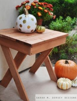 Woodworking Projects - X Leg Table