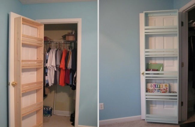 DIY Closet Organizer - Door Shelf