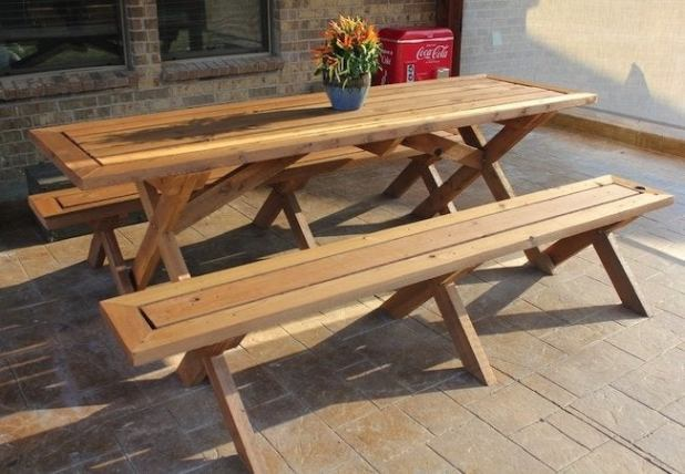 Build Your Own Picnic Table Instructions | Brokeasshome.com