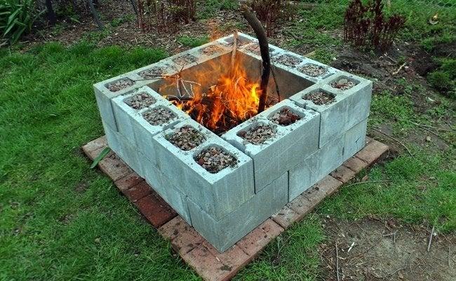 DIY Fire Pit - 5 You Can Make - Bob Vila on Simple Cinder Block Fireplace id=59480