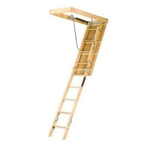 The Best Attic Ladder Options For Easy Access Bob Vila   Folding Attic Stairs With Handrail   Attic Remodel   Attic Renovation   Ceiling   Stira   Rainbow F2260