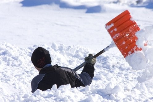 Image result for snow shoveling