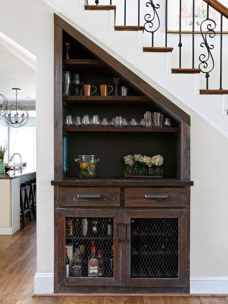 Under Stair Storage 17 Clever Ideas Bob Vila | Home Mini Bar Design Under Staircase | Wine Cellar | Living Room | Basement Stairs | Basement Bar | Interior Design Ideas