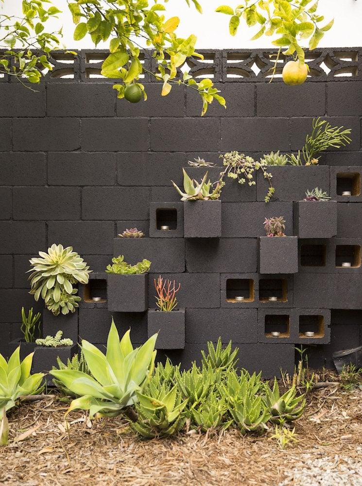 Cinder Block Furniture - 8 Easy DIY Ideas - Bob Vila on Backyard Cinder Block Wall Ideas  id=86619