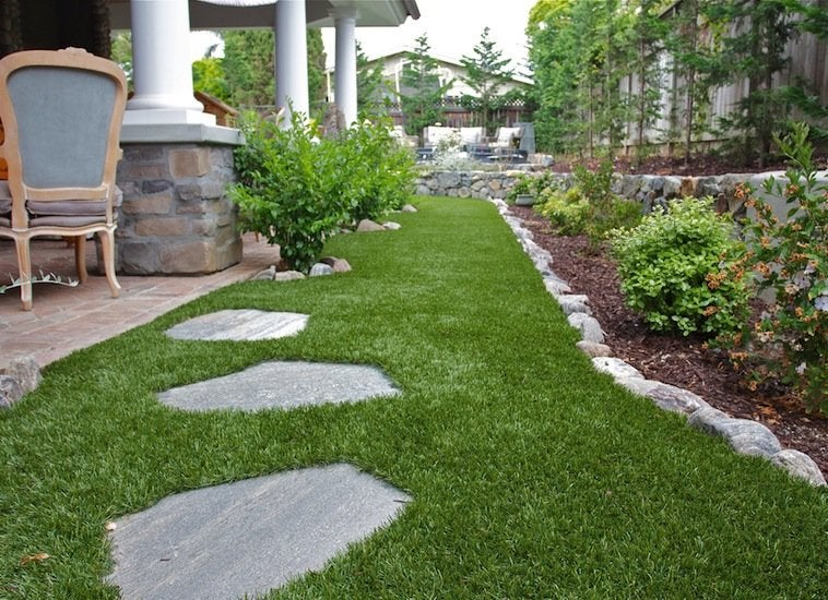 Artificial Grass - Low Maintenance Landscaping - 17 Great ... on Non Grass Backyard Ideas  id=53688
