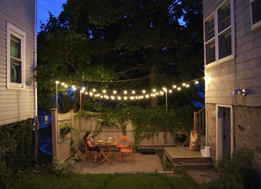 Outdoor String Lights - Small Backyard Ideas - 9 Ideas to ... on Backyard String Lights Diy  id=58381