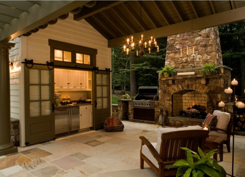 Outdoor Kitchen Ideas - 10 Designs to Copy - Bob Vila on Outdoor Kitchen And Fireplace Ideas id=46912