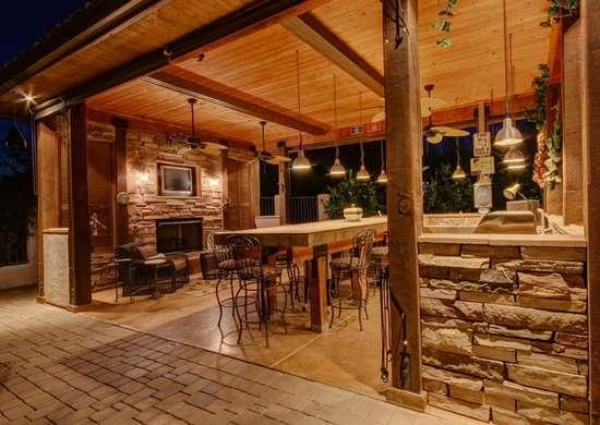Covered Outdoor Kitchen - Outdoor Kitchen Ideas - 10 ... on Covered Outdoor Kitchen With Fireplace id=91055
