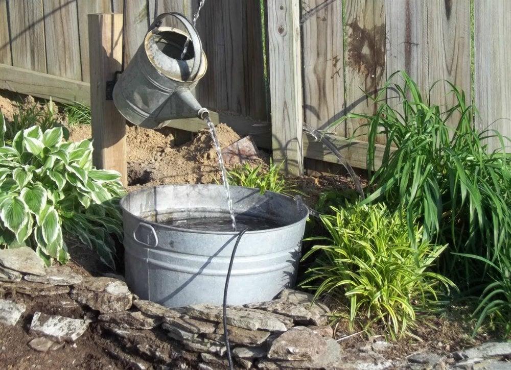 diy garden fountain ideas Vintage Watering Can - DIY Fountain Ideas - 10 Creative