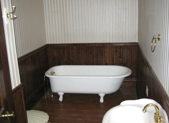 Dated bathroom before and after