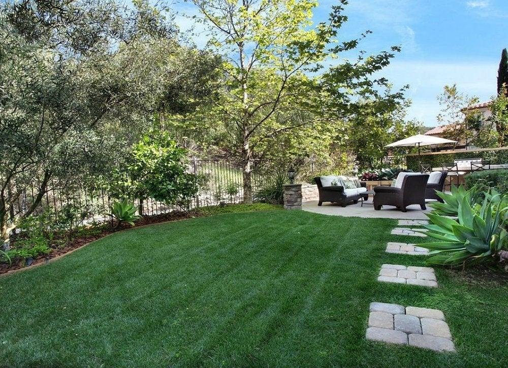 Backyard Landscape Ideas - 8 Lawn-Less Designs - Bob Vila on Artificial Grass Backyard Ideas  id=93697