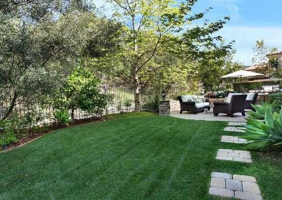 Artificial Lawn - Backyard Landscape Ideas - 8 Lawn-Less ... on No Mow Backyard Ideas  id=33800