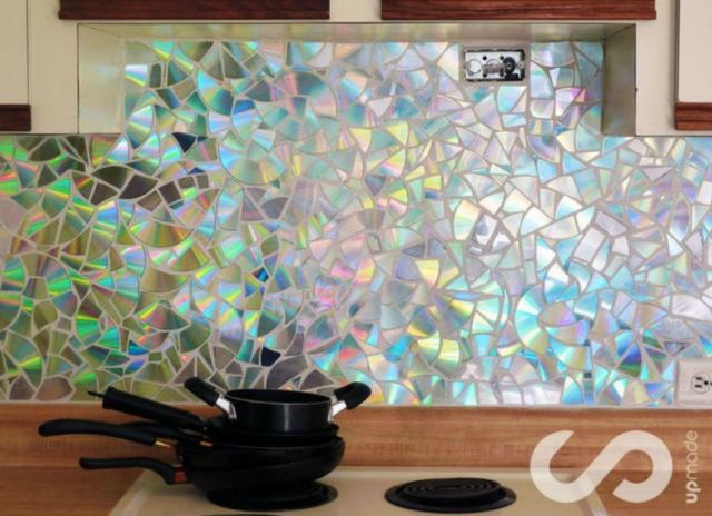 Backsplash ideas   old cds