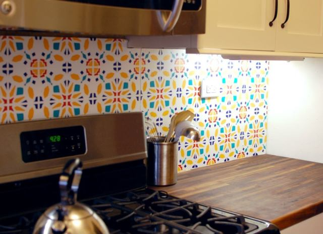 Backsplash ideas   vinyl decal