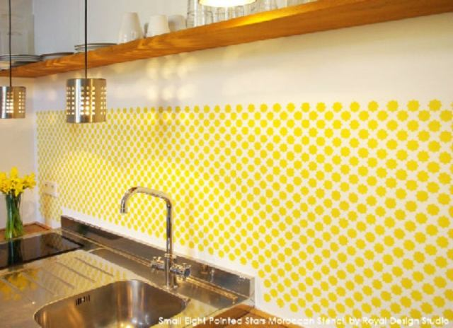 Backsplash ideas   stencil