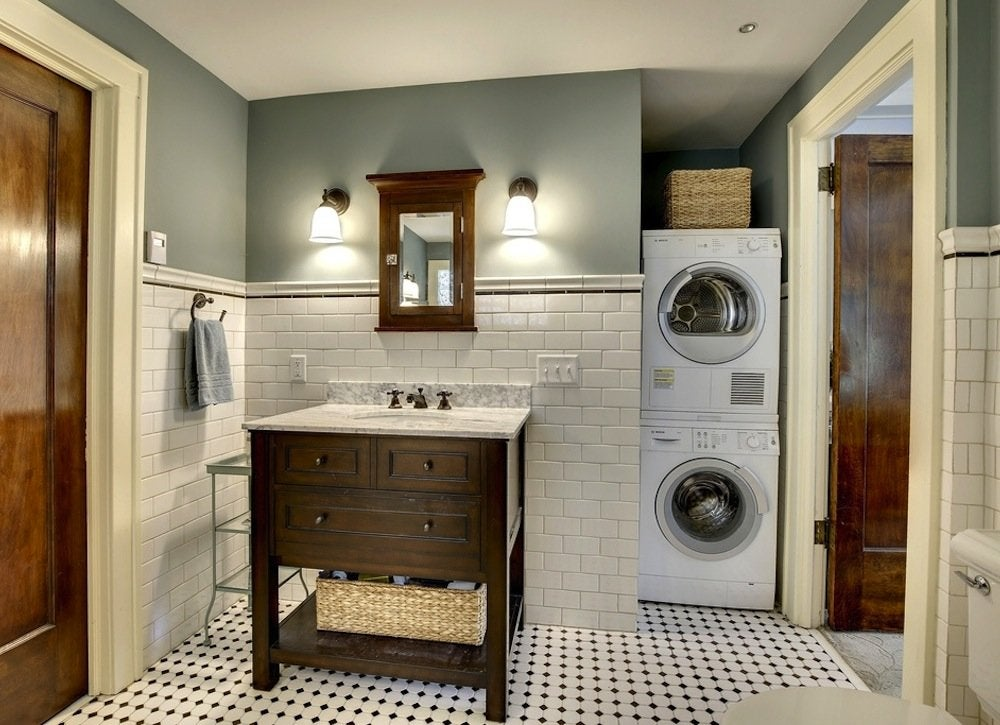 Laundry room bathroom - 18 Storage Ideas for Small Spaces ... on Small Apartment Bathroom Storage Ideas  id=27178