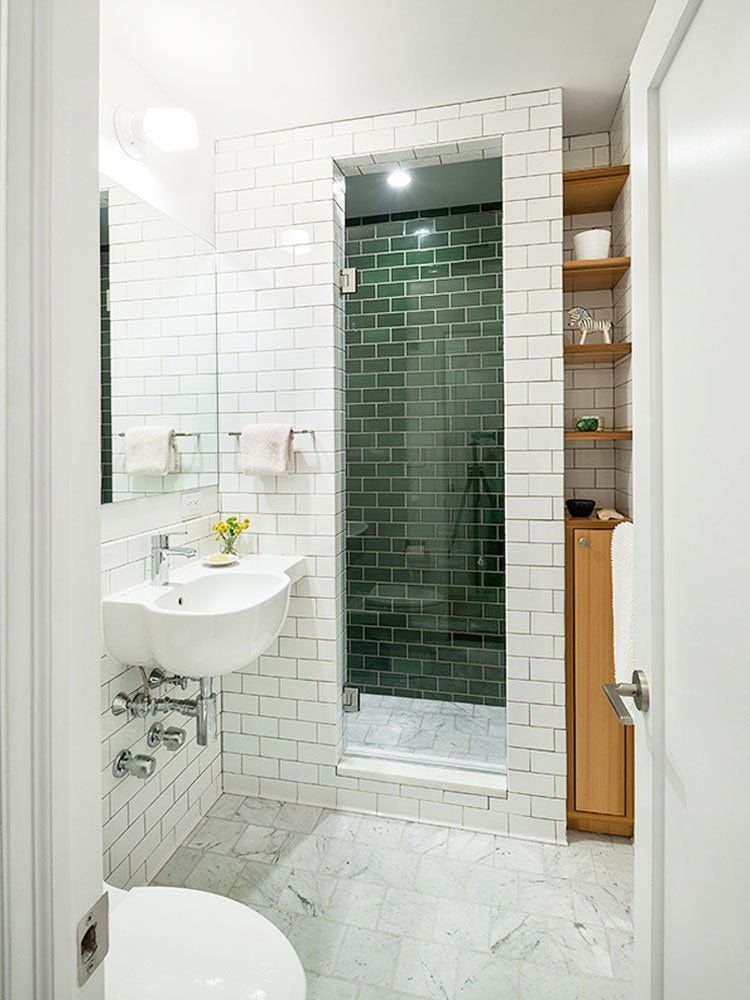 Small Bathroom Ideas - Bob Vila on Small Space Small Bathroom Ideas With Shower id=33427