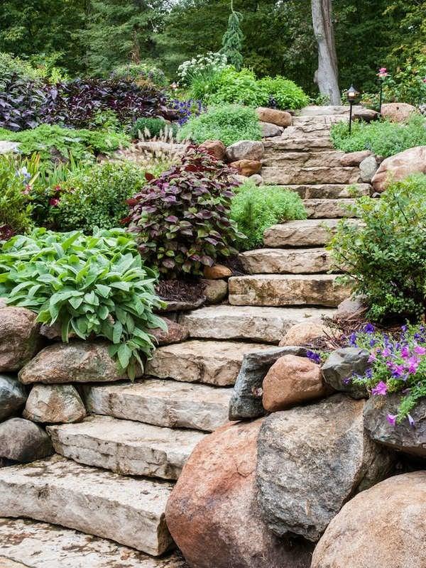 Backyard Slope Landscaping Ideas - 10 Things To Do - Bob Vila on Backyard Stairs Ideas id=80814