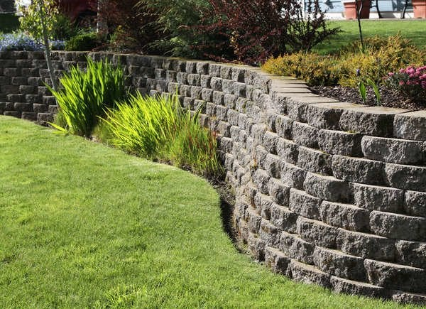 Backyard Slope Landscaping Ideas - 10 Things To Do - Bob Vila on Wall Ideas For Yard id=50479