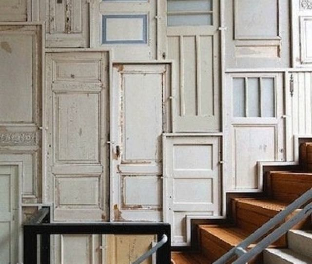 Of Old Wood Doors Waiting To Be Put Back Into Action But You Dont Have To Use These Swingers In Entrances Or Exits Instead You Can Repurpose Them In
