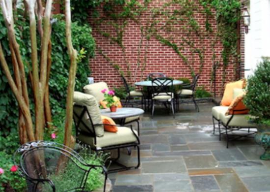 Slate Patio - Backyard Landscaping Ideas - 7 Budget ... on Budget Friendly Patio Ideas  id=92173