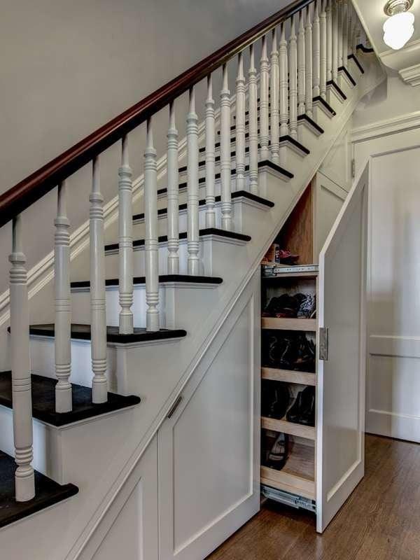 Under Stair Storage 17 Clever Ideas Bob Vila | Space Under Staircase Design | Indoor | Clever | Innovative | Wooden | Understairs