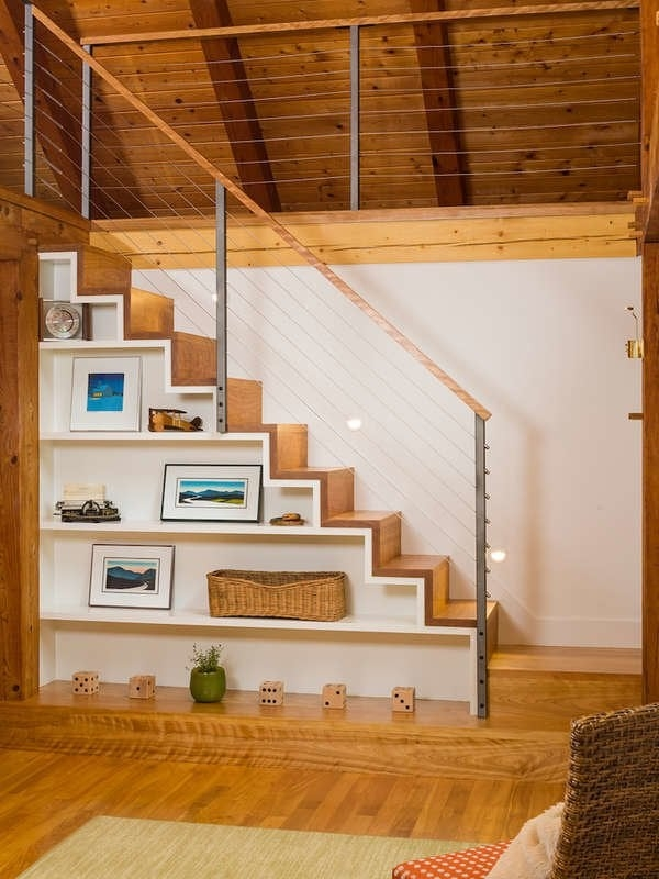 Under Stair Storage 17 Clever Ideas Bob Vila   Open Concept With Basement Stairs In Middle Of House   Dining Room   Ceiling   Feng Shui   Kitchen   Stair Case