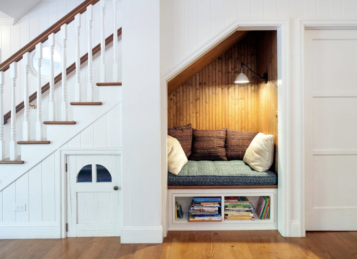 Under Stair Storage 17 Clever Ideas Bob Vila | Designs Of Stairs Inside Small House | Stone Tiles | Decorating Ideas | Stair Treads | Space | Staircase Makeover