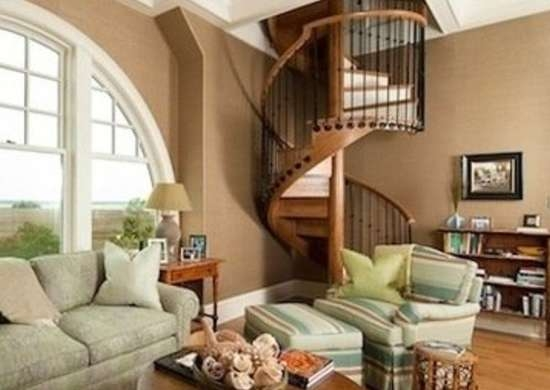 Spiral Stairs 11 Twisted Designs You Ll Love Bob Vila | Spiral Staircase Into Loft | Attic Stairs | Ladder | Bedroom | Space Saver | Staircase Ideas