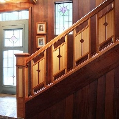 Staircase Railing 14 Ideas To Elevate Your Home Design Bob Vila | Wood And Metal Handrail | Interior | Iron Railing | Architectural Modern Wood Stair | Stainless Steel | Traditional